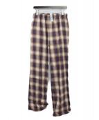 ()の古着「チェックパジャマパンツ」|レッド