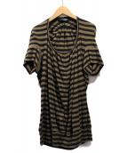JUNYA WATANABE COMME des GARCONS(ジュンヤワタナベ コムデギャルソン)の古着「ボーダーTシャツ」|ブラウン