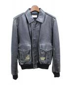 Saint Laurent Paris(サンローランパリ)の古着「ヴィンテージ加工レザージャケット」|ブラック
