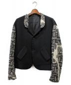 Nemeth(ネメス)の古着「リネン切替ジャケット」|ブラック