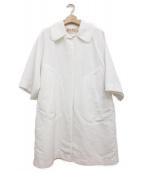 MARNI(マルニ)の古着「ステンカラーショートスリーブコート」|ホワイト