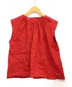MIU MIU(ミュウミュウ)の古着「ノースリーブブラウス」|レッド