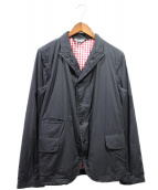 BLACK COMME des GARCONS(ブラックコムデギャルソン)の古着「裏地チェックテーラードジャケット」 ブラック