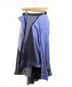 sacai(サカイ)の古着「18SS/レイヤードスカート」|ブルー