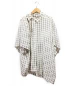 BALENCIAGA(バレンシアガ)の古着「19SS/ブロックチェックシャツ」|ホワイト