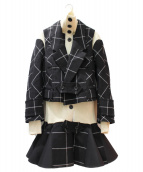 sacai(サカイ)の古着「ドッキングワンピース」|ブラック
