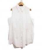 DAMIR DOMA(ダミールドマ)の古着「スリーブスリットブラウス」|ホワイト