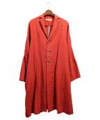 SUZUKI TAKAYUKI(スズキタカユキ)の古着「テーラードカラーコート」 レッド