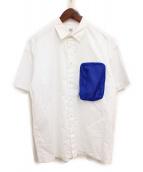 MR.GENTLEMAN(ミスタージェントルマン)の古着「ポケット切替シャツ」|ホワイト