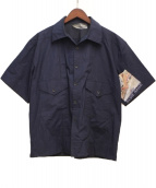 NASHE HALLIE(ナシェ)の古着「半袖シャツ」|ネイビー