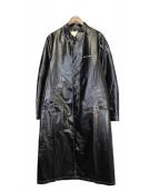 ALYX(アリクス)の古着「ロゴプリントクラシックロングコート」 ブラック