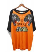 GUCCI(グッチ)の古着「19SS/プリントTシャツ」|オレンジ