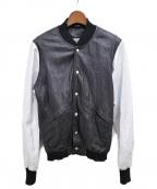 GIORGIO BRATO(ジョルジオ ブラッド)の古着「メッシュレザージャケット」 ブラック