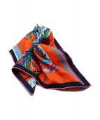 HERMES(エルメス)の古着「COUPE DE GALA/シルクスカーフ」|オレンジ