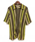 CMMN SWDN(コモン スウェーデン)の古着「ニットシャツ」|ブラウン