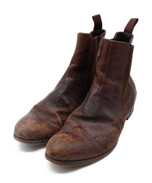 PREMIATA(プレミアータ)PREMIATA (プレミアータ) ヴィンテージ加工ブーツ ブラウン サイズ:6の古着・服飾アイテム