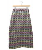 GUCCI(グッチ)の古着「メタリックスカート」|シルバー