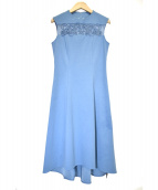 Viaggio Blu(ヴィアッジョブル)の古着「コード刺繍ワンピース」|ブルー