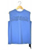 Viaggio Blu(ヴィアッジョブル)の古着「コード刺しゅうカットソー」|ブルー