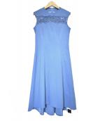Viaggio Blu(ヴィアッジョブル)の古着「コード刺しゅうワンピース」|ブルー