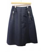 GOLDEN GOOSE(ゴールデングース)の古着「ジップデザインスカート」|ネイビー