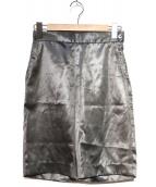 H BEAUTY&YOUTH(エイチビューティアンドユース)の古着「サテンショートパンツ」|グレー