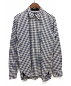 COMME des GARCONS HOMME(コムデギャルソンオム)の古着「切替チェックシャツ」|ブルー×ホワイト