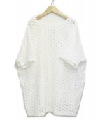 JUNYA WATANABE COMME des GARCONS(ジュンヤワタナベ コムデギャルソン)の古着「パンチングカットソー」 ホワイト