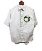 Dior Homme(ディオール オム)の古着「エンブロイダリーフラワーシャツ」|ホワイト