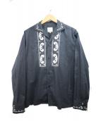 RATS(ラッツ)の古着「エンブロイダリーシャツ」 ブラック