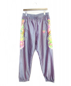 doublet(ダブレット)の古着「CHAOS EMBROIDERY CHAMBRAY PANT」|グリーン