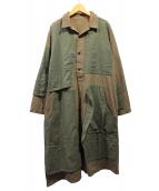 Ys(ワイズ)の古着「18AW パッチワークコート」|ブラウン