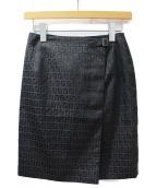 FENDI(フェンディ)の古着「ズッカ柄スカート」 ブラック