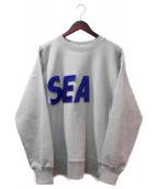 WIND AND SEA(ウィンダンシー)の古着「フロントロゴスウェット」 ライトグレー