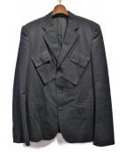 YohjiYamamoto pour homme(ヨウジヤマモトプールオム)の古着「ポケットデザインテーラードジャケット/敗残兵期」|ブラック