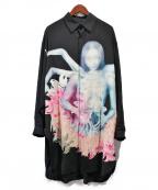BLACK Scandal Yohji Yamamoto(ブラックスキャンダルヨージヤマモト)の古着「20SS/×内田すずめ ビッグプリントブラウス」 ブラック