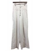 sulvam(サルバム)の古着「20SS ハイウエストバギーパンツ」|ホワイト