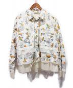 midorikawa(ミドリガワ)の古着「ANGEL/パジャマシャツ」 ホワイト