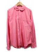COMME des GARCONS COMME des GARCONS(コムデギャルソンコムデギャルソン)の古着「ラウンドカラーシャツ」|ピンク