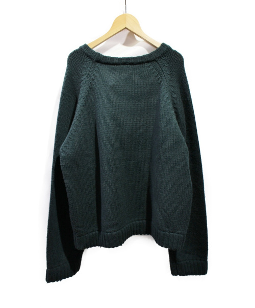 yokosakamoto(ヨウコサカモト)yokosakamoto (ヨウコサカモト) 3Gウールニット ダークグリーン サイズ:Mの古着・服飾アイテム