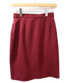 CHANEL(シャネル)の古着「ウールスカート」|ワインレッド