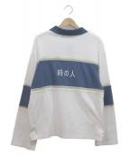 maison emerald(メゾンエメラルド)の古着「長袖ポロシャツ」|ホワイト