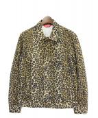 Supreme(シュプリーム)の古着「Leopard Denim Trucker Jacket」|カーキ