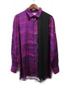SHAREEF(シャリーフ)の古着「パターンオールオーバービッグシャツ」 パープル