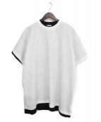 VETEMENTS(ヴェトモン)の古着「Tシャツ」 ホワイト×ブラック