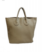 YOUNG & OLSEN The DRYGOODS STORE(ヤングアンドオルセン)の古着「EMBOSSED LEATHER TOTE M トートバッグ」|グレー