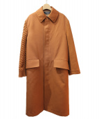 UNDERCOVER(アンダーカバー)の古着「19AW アーム切替ステンカラーコート」|キャメル