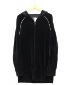 LIMI feu(リミフゥ)の古着「ベロアパーカー」|ブラック