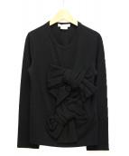 COMME des GARCONS(コムデギャルソン)の古着「リボンニット」|ブラック