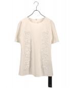 Viaggio Blu(ヴィアッジョブル)の古着「コード刺繍ブラウス」|ホワイト